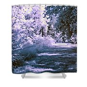 Infrared Morning Shower Curtain