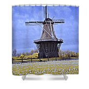 Infrared Photo Of The Dezwaan Dutch Windmill On Windmill Island In Holland Michigan Shower Curtain