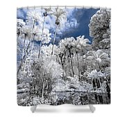 Infrared Pond And Reflections 2 Shower Curtain