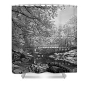 Infrared River Shower Curtain