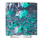 Infrared Roses Shower Curtain