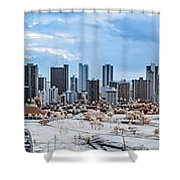 Infrared Sunset Over Honolulu Shower Curtain