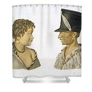 Inhabitants Of New Zealand, 1826 Shower Curtain