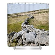 Inis Mor Fields Of Stone Shower Curtain