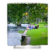 Inistioge Friends Shower Curtain