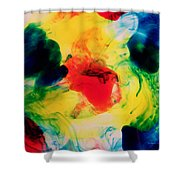 Ink Drops Shower Curtain