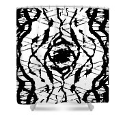 Ink Spot Shower Curtain