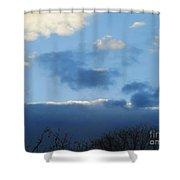 Inkblot Clouds 1 Shower Curtain