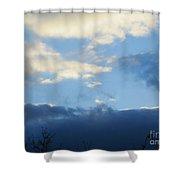 Inkblot Clouds 2 Shower Curtain