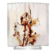 Ink_r4 Shower Curtain