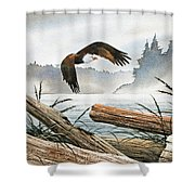 Inland Sea Eagle Shower Curtain