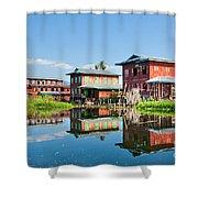 Inle Lake - Myanmar Shower Curtain