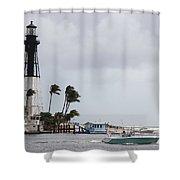 Inlet Light Hillsboro Shower Curtain