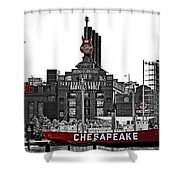 Inner Harbor Shower Curtain