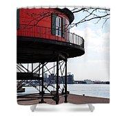 Inner Harbor Lighthouse - Baltimore Shower Curtain