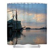 Inner Harbor610 Shower Curtain