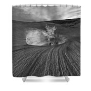 Inner Light Bw Shower Curtain