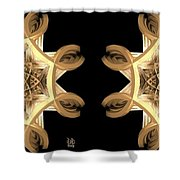 Inner Response - Stereogram Shower Curtain