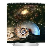 Inner Space Outer Space Shower Curtain