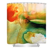 Inner Strength - Abstract Painting By Sharon Cummings Shower Curtain by Sharon Cummings