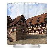Inneryard Kaiserburg - Nuremberg Shower Curtain