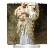 Innocence Shower Curtain by William Bouguereau