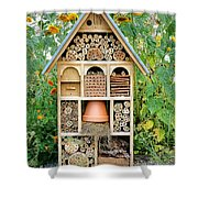 Insect Hotel Shower Curtain