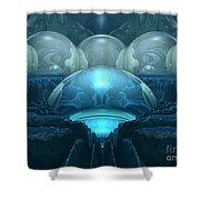 Inside A Blue Moon Shower Curtain