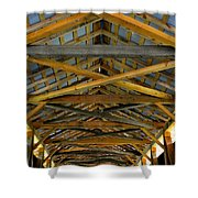 Inside A Covered Bridge 3 Shower Curtain
