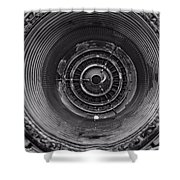 Inside A Jet Engine Black And White Shower Curtain