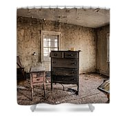 Inside Abandoned House Photos - Old Room - Life Long Gone Shower Curtain