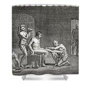 Inside An Egyptian Bathhouse, C.1820s Shower Curtain