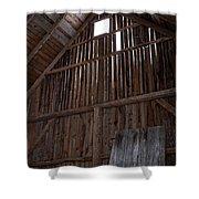Inside An Old Barn Shower Curtain