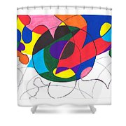 Inside And Outside The Circle Shower Curtain