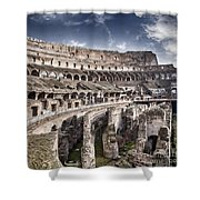 Inside Colosseum Shower Curtain