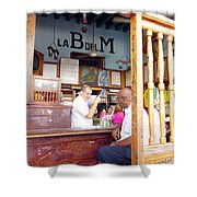 Inside La Bodeguita Del Medio Shower Curtain