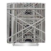 Inside Of The Ferris Wheel Shower Curtain
