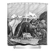 Cruising The Inside Passage Shower Curtain