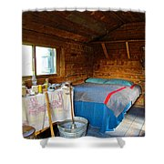 Inside Savage River Cabin In Denali Np-ak   Shower Curtain