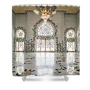 Inside Sheikh Zayed Grand Mosque - Abu Dhabi Shower Curtain