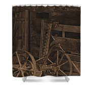 Inside The Barn In Sepia Shower Curtain