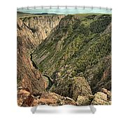 Inside The Black Canyon Shower Curtain