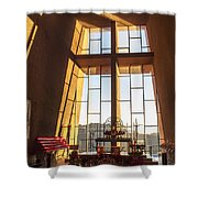 Inside The Chapel Of The Holy Cross Shower Curtain