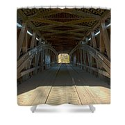 Inside The Cox Ford Covered Bridge Shower Curtain