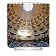 Inside The Pantheon - Rome - Italy Shower Curtain