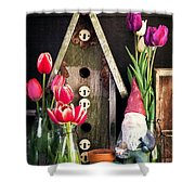 Inside The Potting Shed Shower Curtain