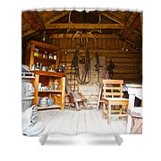 Inside The Real Sam Mcgee's Cabin In Macbride Museum In Whitehorse-yk Shower Curtain