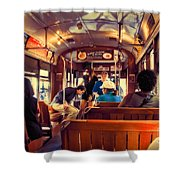 Inside The St. Charles Ave Streetcar New Orleans Shower Curtain
