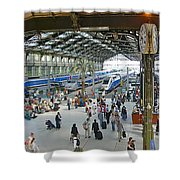 Inside Train Station, Nice, France Shower Curtain