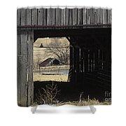 Barn - Kentucky - Inside Treasure Shower Curtain